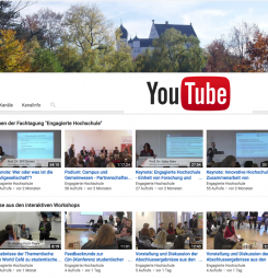 Video-Dokumentation der Tagung als Youtube-Kanal